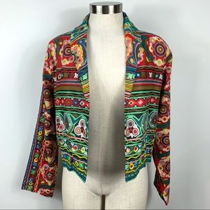 RAGA Embroidered Cropped Light Weight Jacket